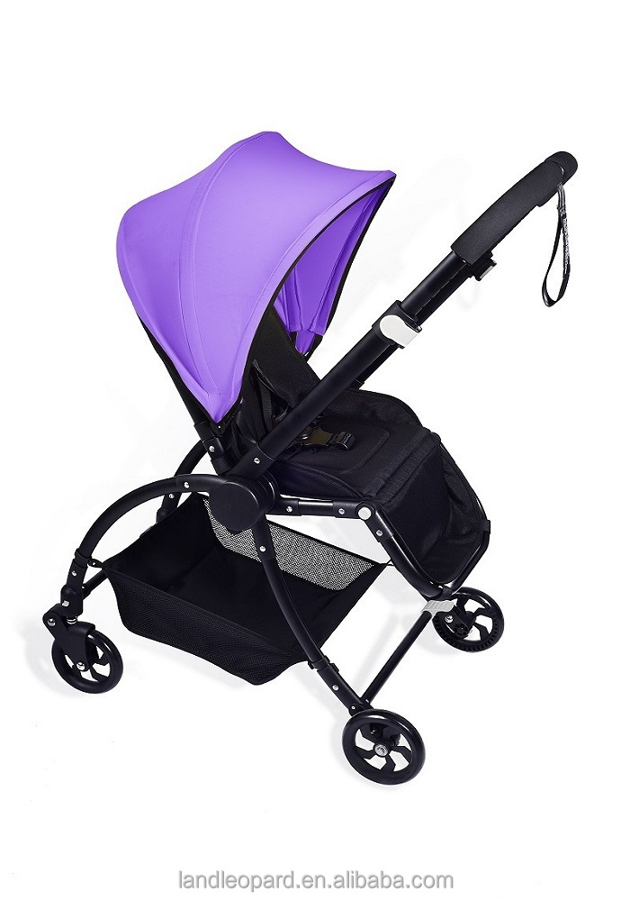 high end 3 in 1 pram baby stroller China manufacturer producing new design pushchair w/ big wheels swivel wheels