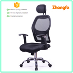 Heated sale office chairs with headrest and wheels in workspace