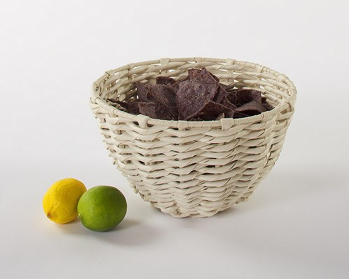 Natural Artifical and Popular Plastic wicker basket
