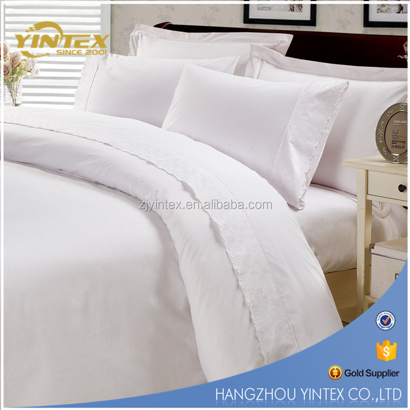 Yintex 300T sateen organic cotton hotel collection bedding bed sheet set