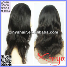 Natural looking 100% brazilian human hair wig for African American Beautiful Lady