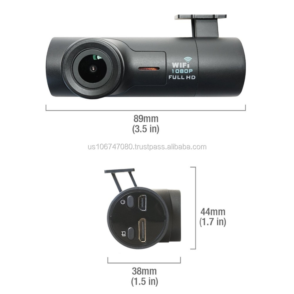 Mini Wi-Fi Dash Camera 1080 P G-sensor Loop Opname Dashboard Camera Recorder Auto Dash Cam 160 Graden Brede hoek