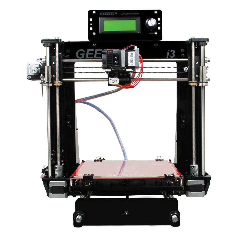 Popular prusa i3 pro B reprap 3d printer DIY kit with lcd screen supporting auto leveling
