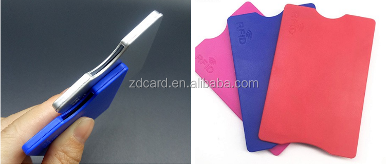 RFID Smart Card Blocking Sleeves Business ID Card Holder