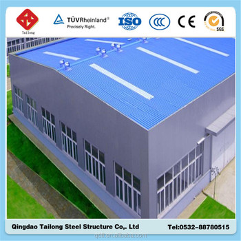 prefabricated fabricated steel structure fiberglass sandwich panel a frame agriculture warehouse