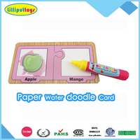 cheap paper magic aqua doodle playing card with water pen