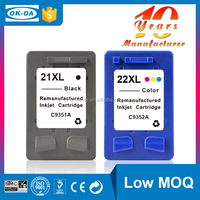 cheap ink cartridge refill ink cartridge for hp 21 22 (C9351AE C9352AE) with high quality