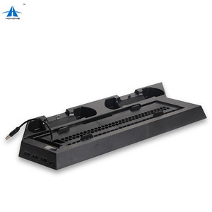 3 USB Ports Cooling Fan For Playstation 4 Cooler Station With Dual Charging Stand Dock For PS4/PS4 Slim Gaming Console Cooler