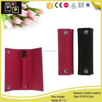 China Supplier Fashion Single Pen Case, PU Leather Pencil Case