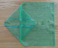 Green 15kg 40x60 PE Raschel knitted net bags for vegetables