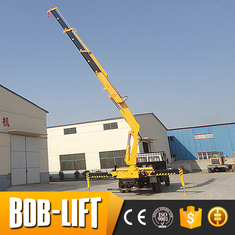 Customized 10 ton mobile pickup truck crane with foldable arms