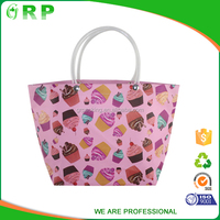OEM Factory cute pink color foldable pp woven gift shopping bags