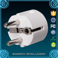 Fire retardant extension 2 in 1 multi electrical sockets Schuko round to uk electrical sockets