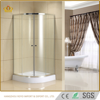 Electroplate Chrome Frame shower enclosure door jinna , Free Standing Glass Shower box