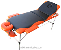 2014 hot sales 3 section folding aluminum massage bed with color mixed