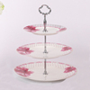 High quality new design porcelain three layered cake/fruit plate