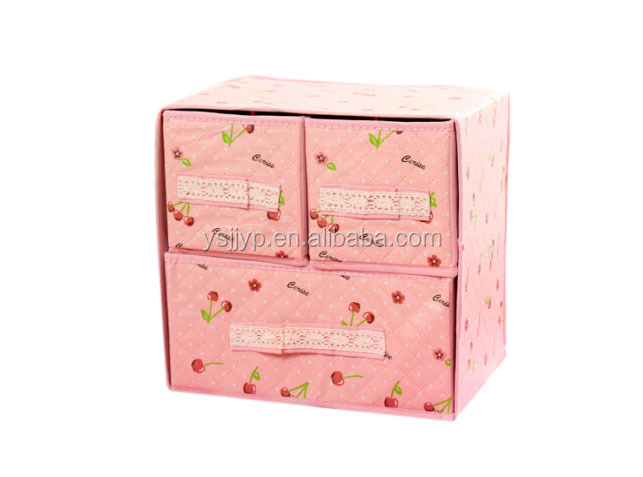 China direct factory best price hot sale non-woven jewelry watch drawer storage box