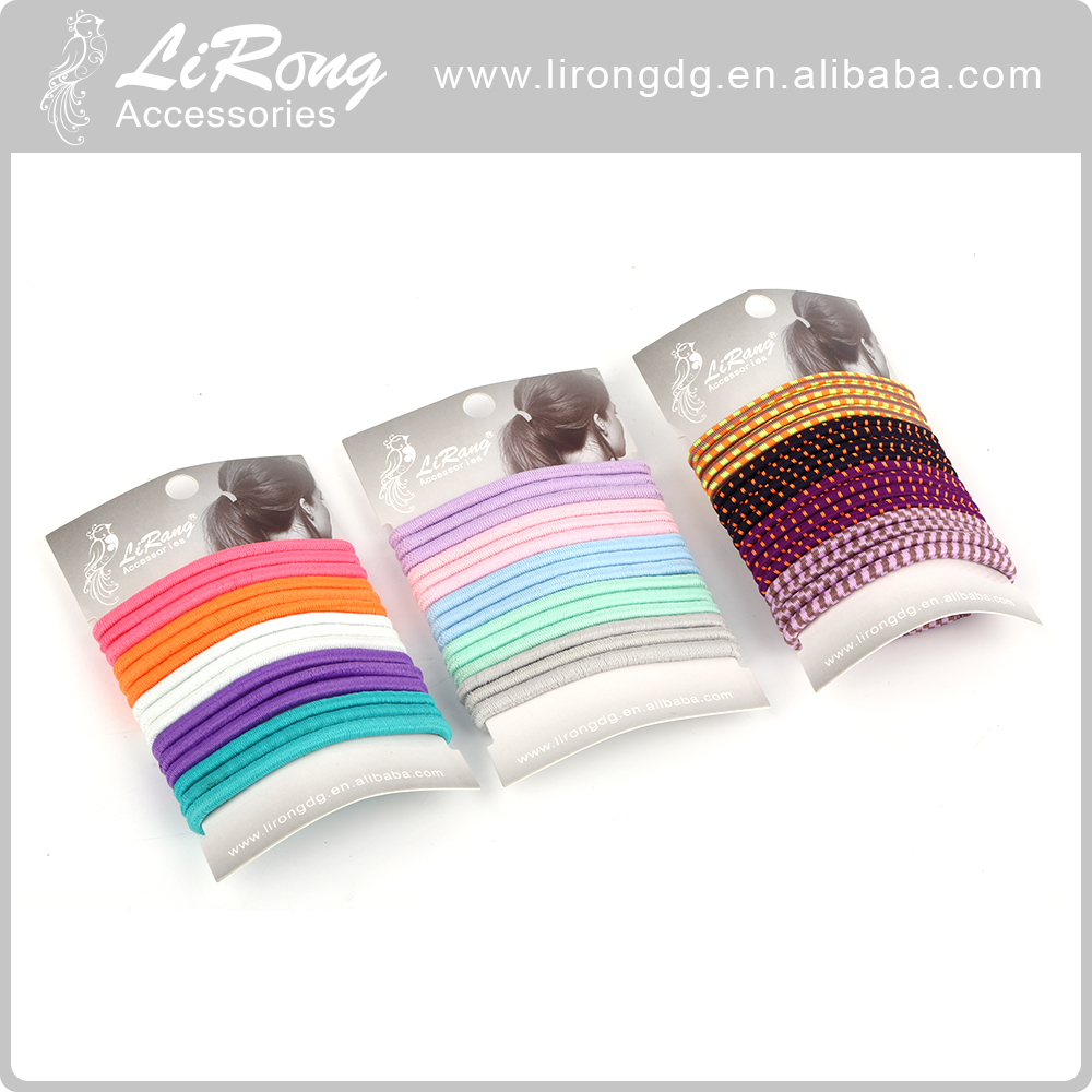 Elastic band women black white hair accessories