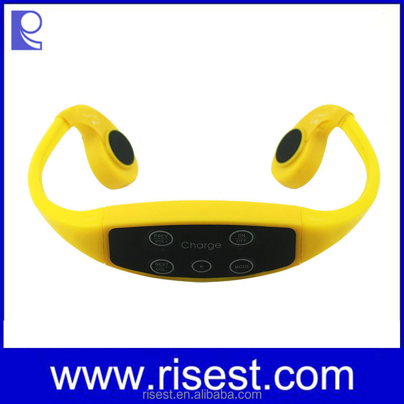 H-904M Bone Conduction Earphone, Swimming Mp3 Player, Waterproof Radio Mp3 Player For Motorcycle
