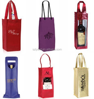 Professional Laminated PP Non-woven Wine Bag,Custom Nonwoven Single Bottle Carry Bag