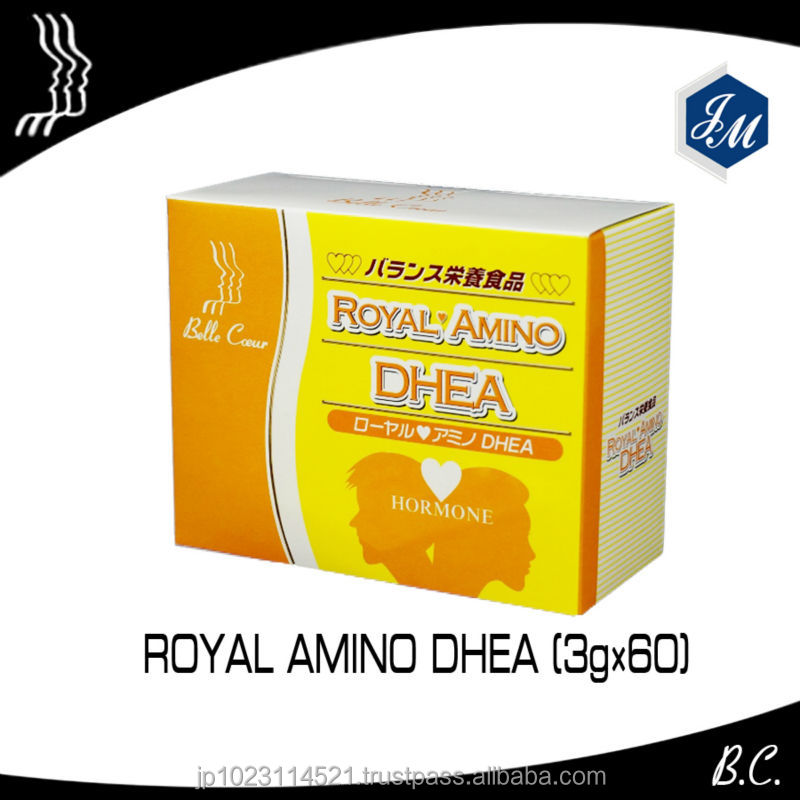 "Anti-aging supplement ""Royal Amino DHEA"" from natural ingredients made in Japan"