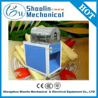 High speed sugar cane skin removing machine with low damage