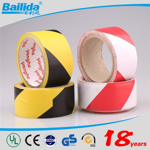 No adhesive black yellow pe warning tape for Floor Line Marking