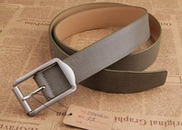 Fashion mens leather canvas belts with pin buckles factory price hot selling
