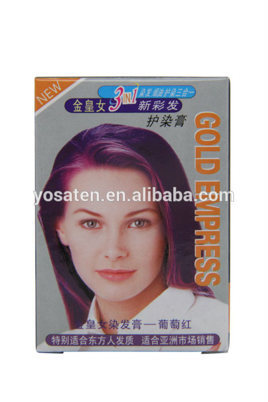 High quality professional hair color cream hair dyeing shampoo names hair colors