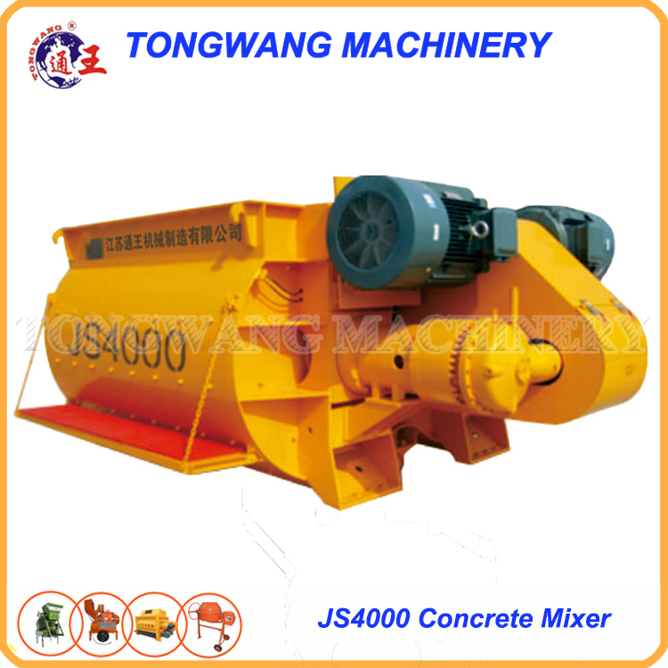 hot sale JS4000 forced type concrete mixer with metering
