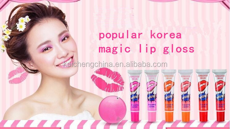 Ava recommend makeup private label liquid lipstick romantic bear peel off lip gloss