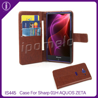Hot new products for 2015 wallet design leahter mobile phone case for Sharp SH-01H AQUOS ZETA
