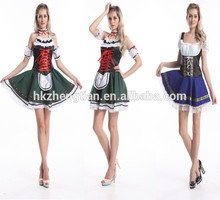 Bavarian Beer Girl Maid Ladies Oktoberfest Waitress Fancy Dress Womens Costume party costume