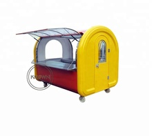 Commercial mobile street food trailer food cart free shipping by sea CFR terms