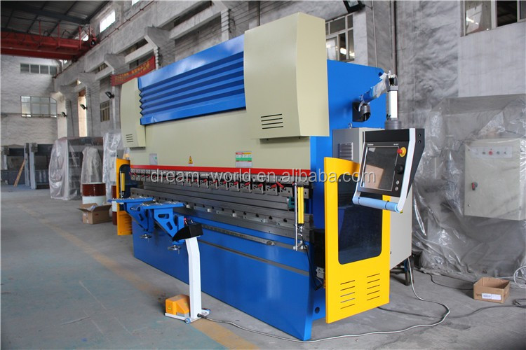 Electro-hydraulic Servo Press Brake WE67K-125T/4000 with Delem CNC Controller DA66T 4+1 Axises