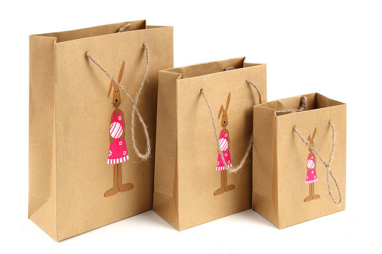 Custom Printed Paper Bag With Logo Printed