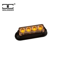 Waterproof Emergency Vehicles Warning Headlight Led Car Grille Light