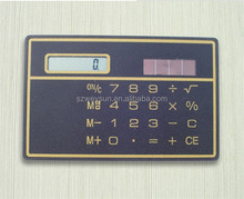 Hot and Convinient Design High Quality Low Cost Mini Slim Credit Card Solar Power Pocket Calculator