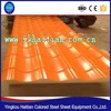 Prepainted corrugated sheet , color coated corrugated steel plate, roof building material