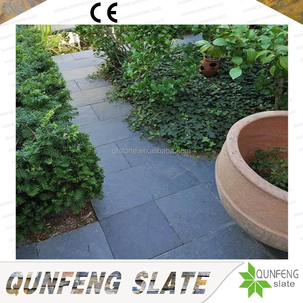 Cheap Price Strong Natural Black Stone Flooring Slate Walkway
