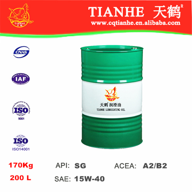Factory price motor oil API SG 15w40 engine oils