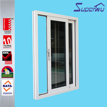 Superwu Australian standard tinted window plastic pvc slding window with AS2047