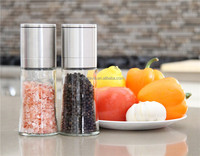 Easy to Hold for Smaller Hands Salt and Pepper Grinder Set salt and pepper mill tray