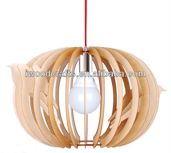 Wood Caged Chandeliers Handmade IW-CB013