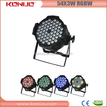 Classical stage wash spotlight 54pcs led par 64 3 watts