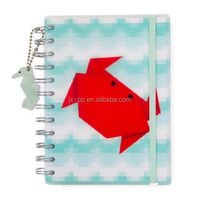 A4 A5 size school notebook hot stamping hardcover diary spiral notebook