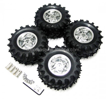 RC Car chassis Wheel with Shaft Adapter
