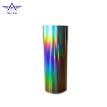 rainbow metalized holographic plastic film