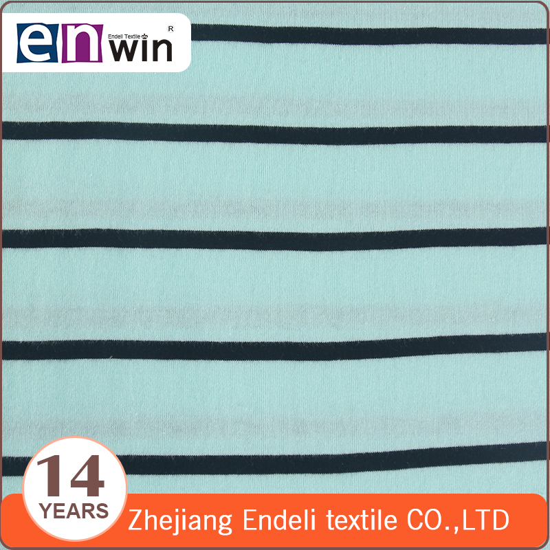 stripe custom fabric cotton jersey knit 100 cotton knit fabric for T-shirt