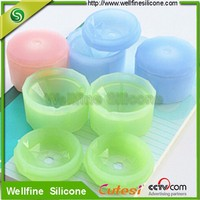 Inner polished diamond shape silicone ice cube tray